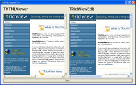 HTML Document (TRichView page) imported in THTMLViewer and TRichViewEdit