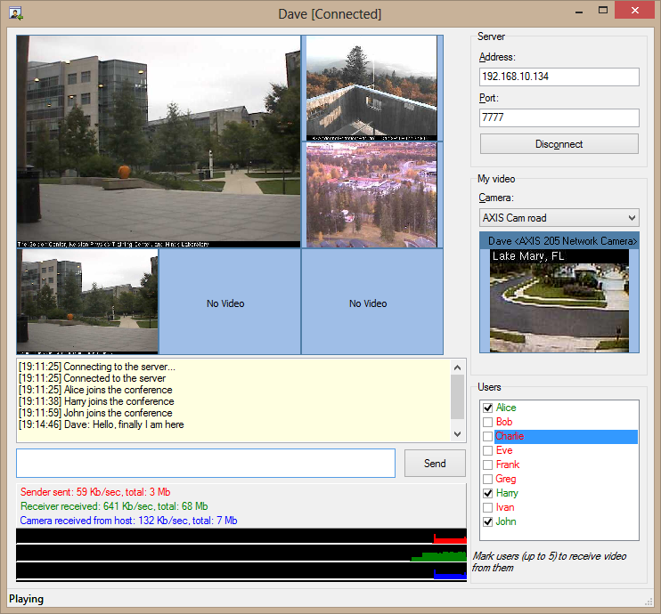 Delphi components for working with video cameras and implementing video chats