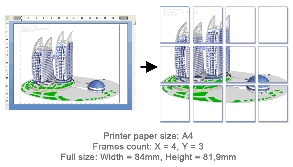 Poster Printing in ScaleRichView Components for Delphi and C++Builder